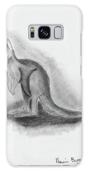 Kangaroo Drawing Galaxy Case