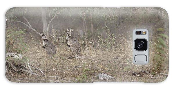 Kangaroos In The Mist Galaxy Case by Az Jackson