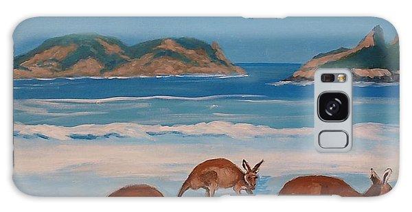 Kangaroos On The Beach Galaxy Case