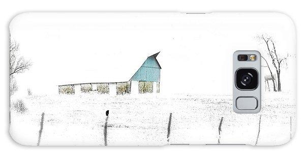 Kansas Blue Barn In Frozen Fog Galaxy Case