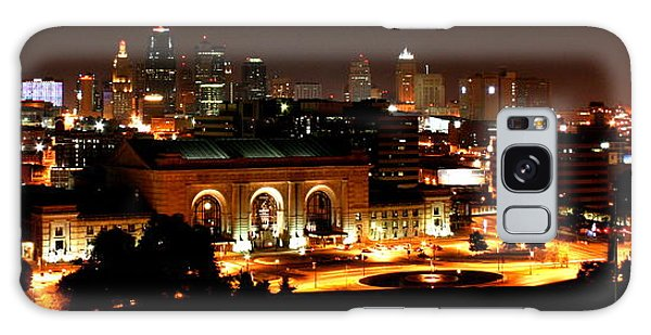 Kansas City Lights Galaxy Case by David Dunham