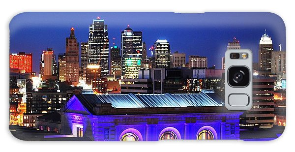 Kansas City Skyline At Night Galaxy Case