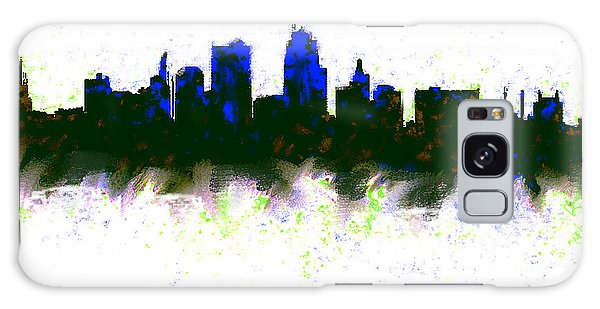 Kansas City Skyline Blue  Galaxy S8 Case