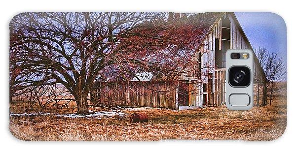 Kansas Countryside Old Barn Galaxy Case