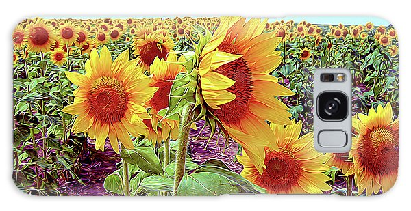 Kansas Sunflowers Galaxy Case