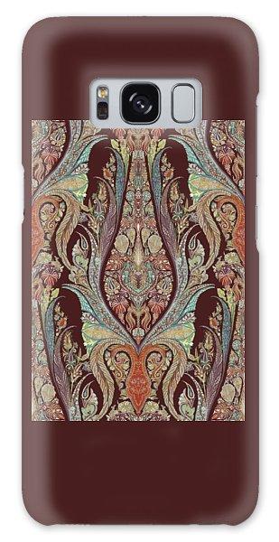 Kashmir Elephants - Vintage Style Patterned Tribal Boho Chic Art Galaxy Case by Audrey Jeanne Roberts