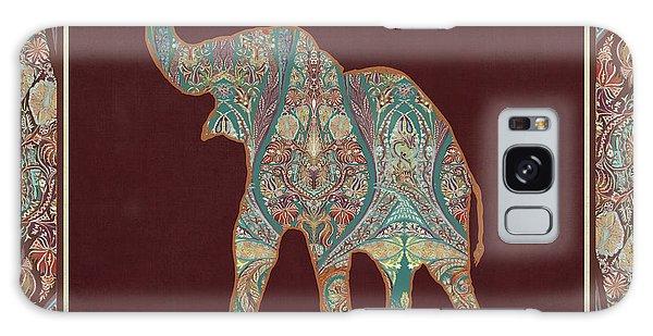 Kashmir Patterned Elephant 3 - Boho Tribal Home Decor Galaxy Case by Audrey Jeanne Roberts