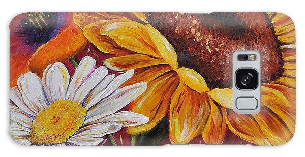 Kathrin's Flowers Galaxy Case by Lisa Fiedler Jaworski