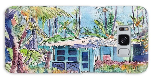 Kauai Blue Cottage 2 Galaxy Case by Marionette Taboniar