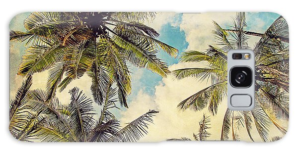Kauai Island Palms - Blue Hawaii Photography Galaxy Case