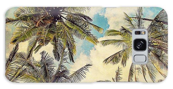 Kauai Island Palms - Blue Hawaii Photography Galaxy Case by Melanie Alexandra Price