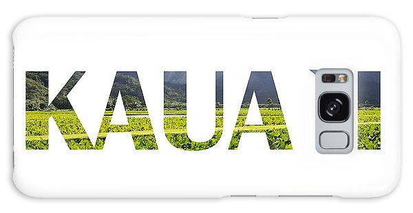 Kauai Letter Art Galaxy Case by Saya Studios