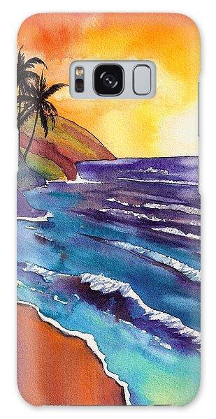 Kauai Na Pali Sunset Galaxy Case by Marionette Taboniar