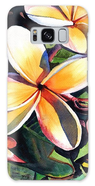 Kauai Rainbow Plumeria Galaxy Case