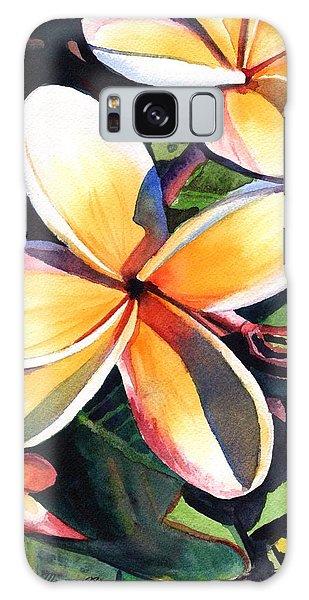 Kauai Rainbow Plumeria Galaxy Case
