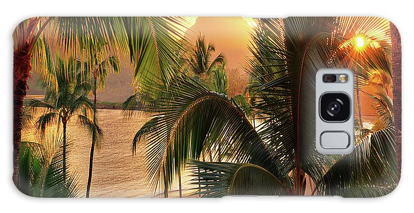 Olena Art Kauai Tropical Island View Galaxy Case