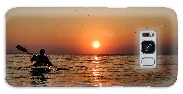 Kayak At Sunset Galaxy Case