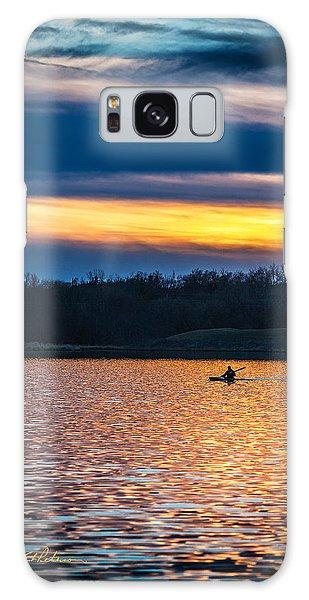 Kayak Sunset Galaxy Case