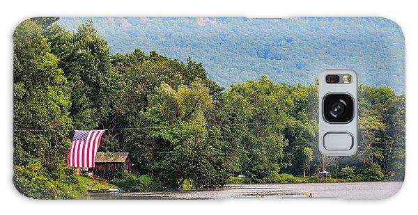 Kayaking On Nashawannuck Pond Easthampon Galaxy Case