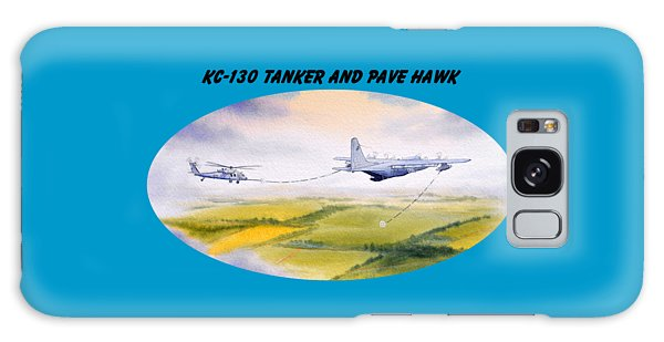 Kc-130 Tanker Aircraft And Pave Hawk With Banner Galaxy Case by Bill Holkham