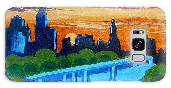 Kc Skyline At Sunset Galaxy Case