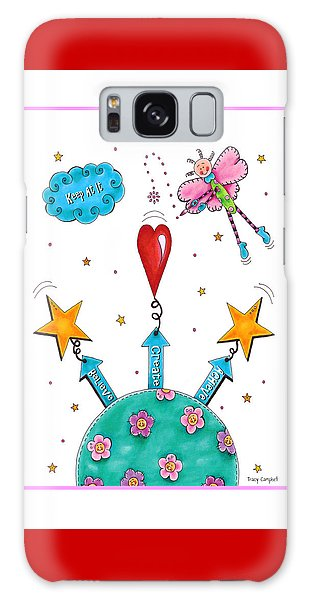 Keep At It Galaxy Case by Tracy Campbell