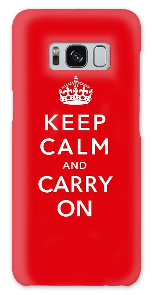 Keep Calm And Carry On Galaxy Case