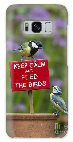 Titmouse Galaxy Case - Keep Calm And Feed The Birds by Tim Gainey