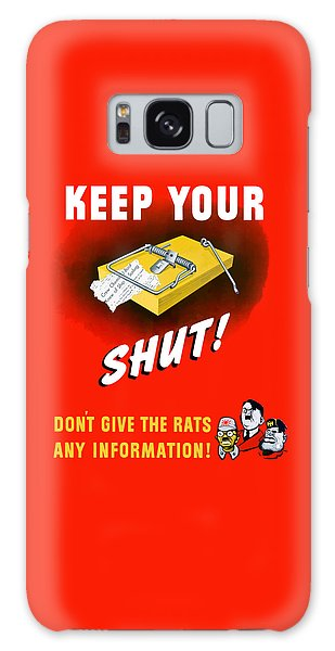 Mouse Galaxy Case - Keep Your Trap Shut -- Ww2 Propaganda by War Is Hell Store