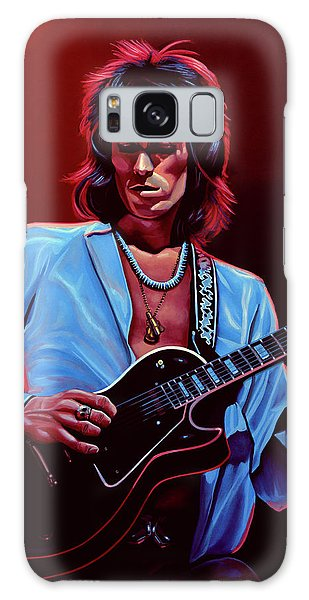 Rolling Stone Magazine Galaxy Case - Keith Richards The Riffmaster by Paul Meijering
