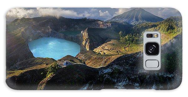 Galaxy Case featuring the photograph Kelimutu Volcano Panoramic View by Pradeep Raja PRINTS