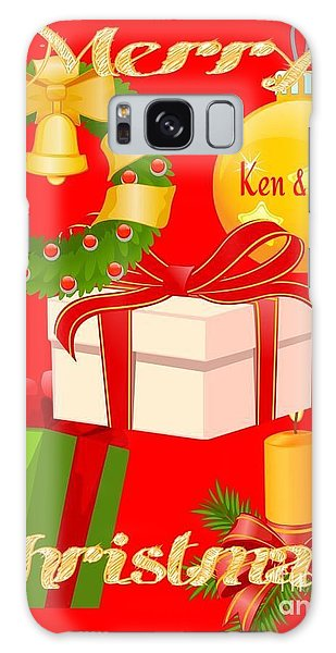 Ken And Lori Xmas Greeting  Galaxy Case by Gayle Price Thomas