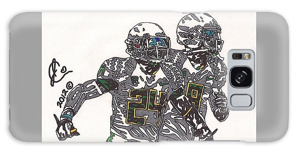 Kenjon Barner And Marcus Mariota Galaxy Case by Jeremiah Colley