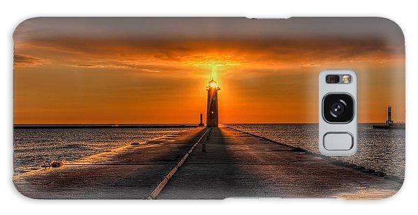 Kenosha Lighthouse Beacon Square Galaxy Case