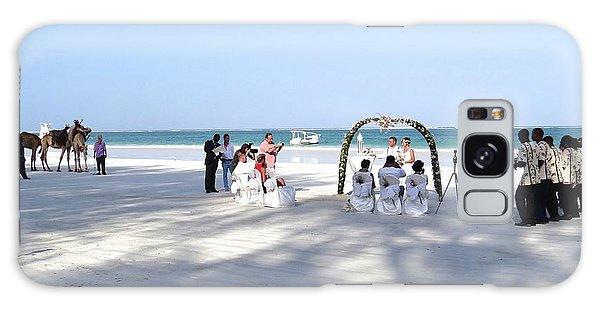 Kenya Wedding On Beach Wide Scene Galaxy Case