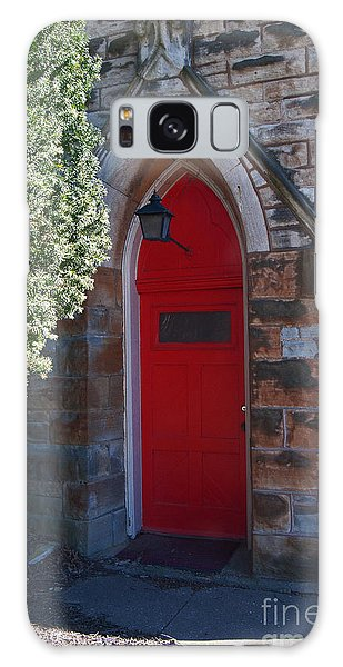 Red Church Door Galaxy Case