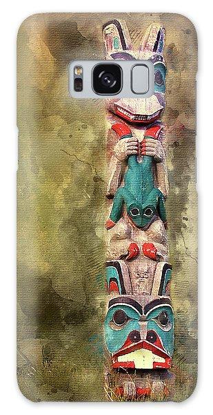 Ketchikan Alaska Totem Pole Galaxy Case by Bellesouth Studio