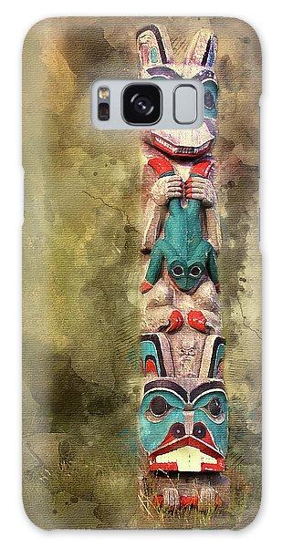 Ketchikan Alaska Totem Pole Galaxy Case