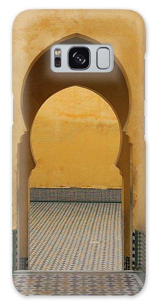 Galaxy Case featuring the photograph Key Hole Doors by Ramona Johnston