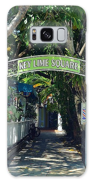 Key Lime Square Galaxy Case by Laurie Perry