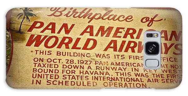 Key West Florida - Pan American Airways Birthplace Sign Galaxy Case by John Stephens
