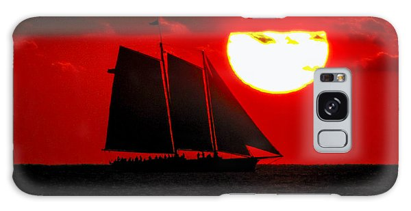 Key West Sunset Sail Silhouette Galaxy Case