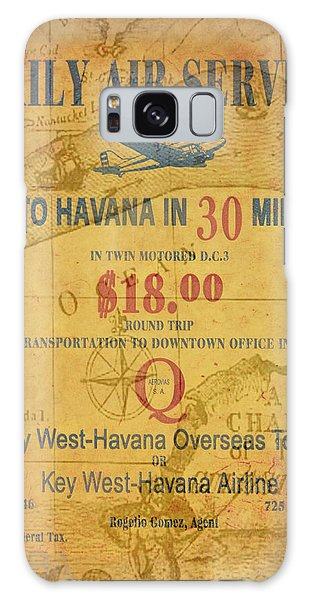 Key West To Havana Galaxy Case