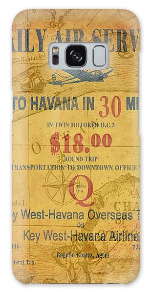 Key West To Havana Galaxy Case