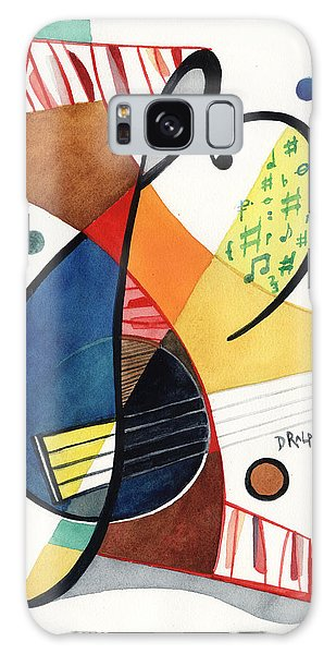 Keys And Clef Galaxy Case