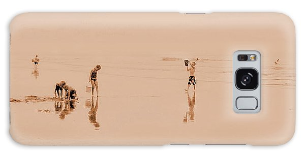 Kids At Play In Sepia Galaxy Case