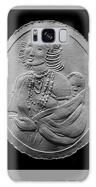 Kikuyu Woman And Child Relief Drawing Galaxy Case