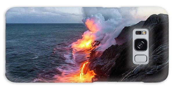 Horizontal Galaxy Case - Kilauea Volcano Lava Flow Sea Entry 3- The Big Island Hawaii by Brian Harig