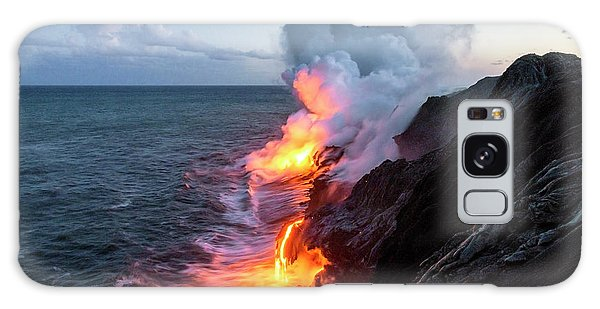 Kilauea Volcano Lava Flow Sea Entry 3- The Big Island Hawaii Galaxy Case by Brian Harig