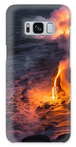 Horizontal Galaxy Case - Kilauea Volcano Lava Flow Sea Entry 6 - The Big Island Hawaii by Brian Harig
